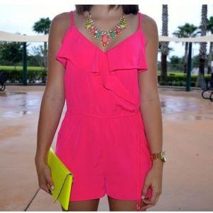 Bright pink romper